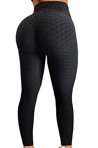 Pau1Hami1ton Damen Leggings, Sporthose Fitnesshose Training Laufhose Sport Tights Hohe Taille Yogahose GP-11(Black,L)