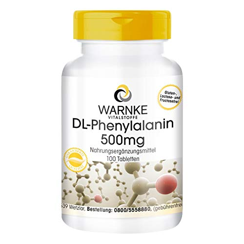 DL-Phenylalanin 500mg - hochdosiert & vegan - 100 Tabletten