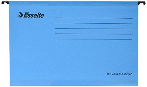 Esselte Pendaflex - Carpeta con ganchos para colgar (tamaño folio, 25 unidades), color azul