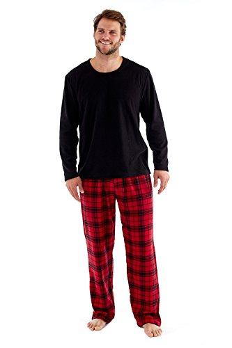 Harvey James - Pijama de forro polar térmico para hombre,