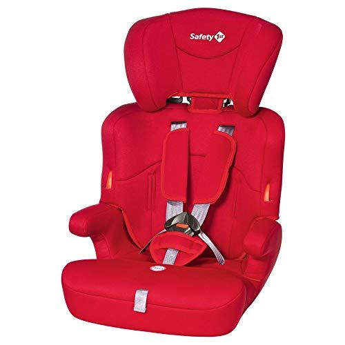 Safety 1st Ever Safe Seggiolino Auto 9-36 Kg, Gruppo 1 2 3 per Bambini dai 9 Mesi fino ai 12 Anni, Facile da Installare, Colore Rosso (Full Red)