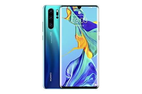 "Huawei P30 Pro - Smartphone de 6.47"" (Kirin 980 Octa-Core de 2.6GHz, RAM de 8 GB, Memoria interna de 256 GB, cámara de 40 MP, Android) Color Aurora [Versión española]"