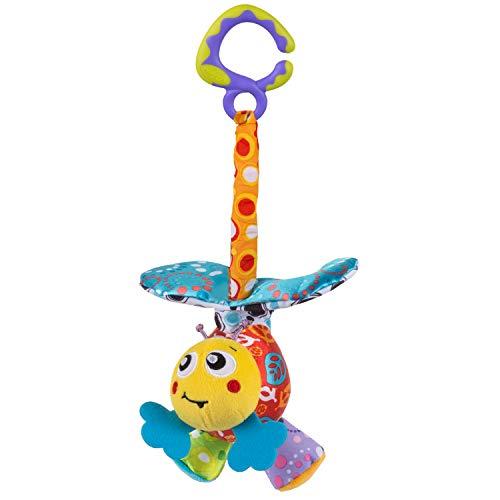 Playgro Kinderwagenanhänger Biene Wackel-Zappel, Ab 0 Monaten, Groovy Mover Bee, Mehrfarbig, 40204
