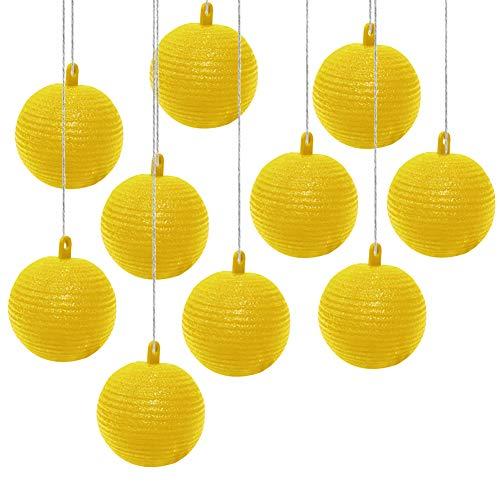 Bola de Trampa para Moscas Colgante,Trampa para Moscas de la Fruta,Trampa Adhesiva para Atrapar Moscas de Frutas,Trampa para Moscas Interior Exterior,para Macetas Balcones Patios Huertos,Amarillo