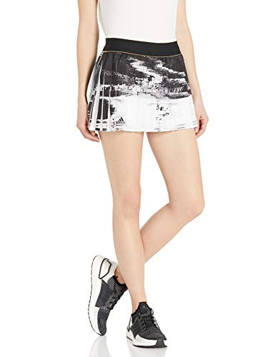 adidas Ny Tennis Skirt, White/Black, Medium