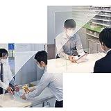 飛沫感染防止対策 感染防止対策用 机上 衝立 卓上仕切り パーテーション 間仕切り W380×H420 1セット書類受渡し窓 スタンド付き 簡単設置 柵 アクリル板 アクリル透明 オフィス カウンター 受付 対面販売