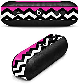MightySkins Skin Compatible with Beats by Dr. Dre Pill Plus - Hot Pink Chevron | Protective, Durable, and Unique Vinyl Decal wrap Cover | Easy to Apply, Remove, and Change Styles | Made in The USA