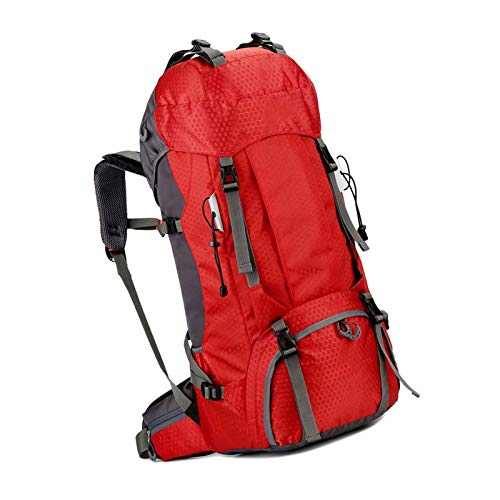 60l Waterproof Ultra Packable Climbing Fishing Traveling Backpack Red