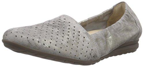 Gabor Shoes Damen Geschlossen Ballerinas Geschlossene Ballerinas, Gabor Comfort , Gr. 41 (Herstellergröße: 7.5), Beige (93 taupe)