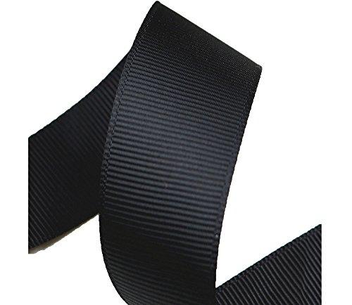 1M 3M 5Mカット 20MM巾グログランリボン MFFS1040 グログランテープ 裁縫 手芸用品 手芸材料 趣味 服飾 (5M, ブラック)
