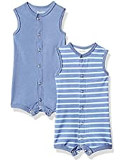 Hanes Flexy 2 Pack Sleeveless Rompers