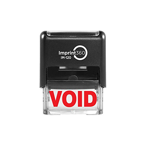 "Imprint 360 AS-IMP1019 - Void, Heavy Duty Commerical Quality Self-Inking Rubber Stamp, Red Ink, 9/16"" x 1-1/2"" Impression Size, Laser Engraved for Clean, Precise Imprints"