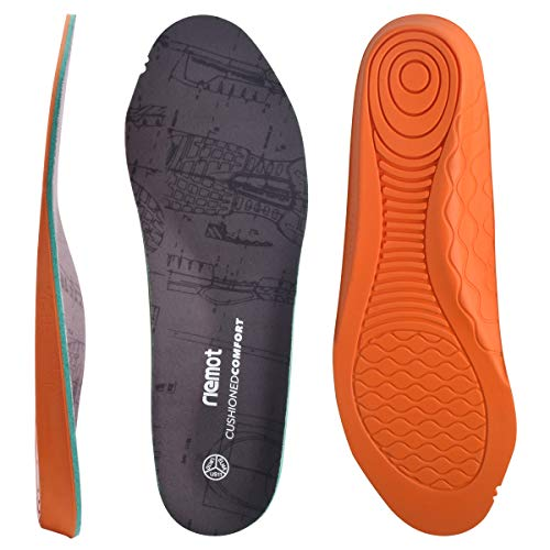 riemot Anti Fatigue Shoe Insoles for Men, Replacment Orthotic Inserts for Work Boots Shoes, Heavy Duty Concrete Innersoles, Cushioning Comfort Shoe Pads US 11.5/EU 44.5
