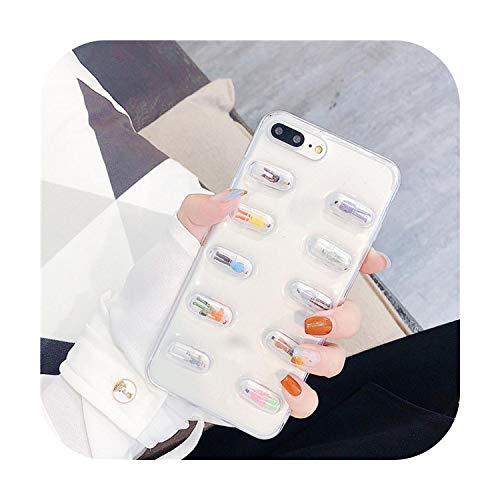 Notre Dame Schutzhülle für iPhone 11 Pro, 3D niedliche Pillen, Cartoon-Design, Schutzhülle für iPhone 11 Pro Max XR XS Max 8 7 6S 6 Plus, transparente Abdeckung, 1-for xiaomi mi 8 Lite