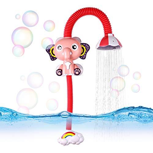 yoptote Douchette Bain Éléphant Jouet Bain Bébé Figurine Animaux Jeux de Bain Bébé Enfant 3 Ans 4 Ans 5 Ans