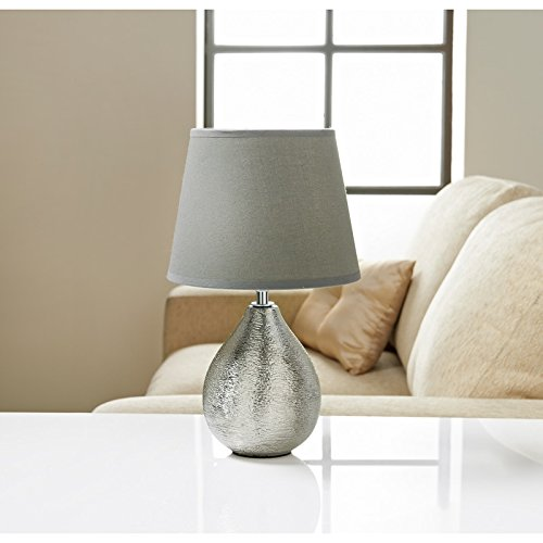 a2z-others Etch Ceramic Table Lamp Room Decoration (Grey)