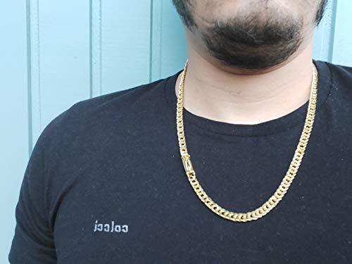 Corrente Masculina Banhada a Ouro Grumet Lacraia 7mm – 70cm Lançamento