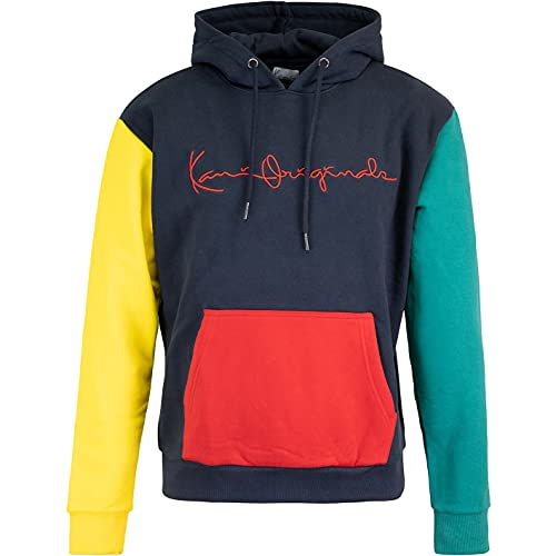 Karl Kani Sudadera con capucha Originals Block, azul y verde, L