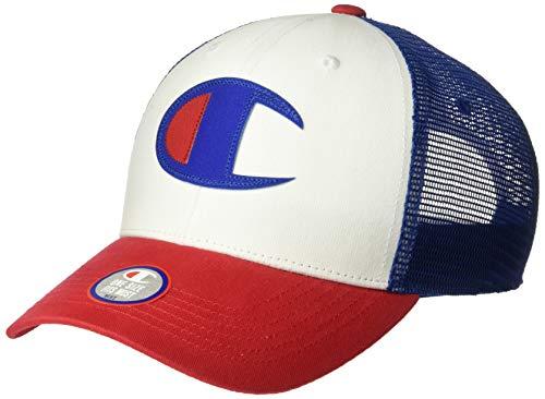 Champion Life Herren Twill Mesh Dad Baseball Cap, Scarlet/White/Surfen im Web, Einheitsgröße