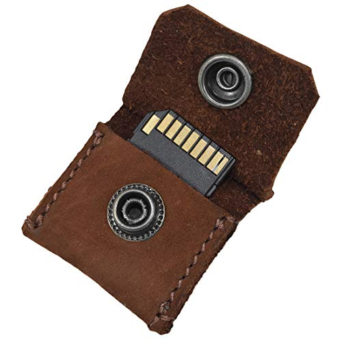 Hide & Drink Rustic Leather Switch Cartridge Game Keychain/SD Card/Guitar Pick Holder Handmade Swayze Suede