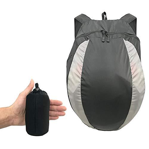 cypressen Helmrucksack Faltbarer Mehrzweck Tagesrucksack, Staubschutz, leichte Aufbewahrungstasche für Motorradhelme Sporthalle Ausbildung Wanderreisetaschen, groß 28L