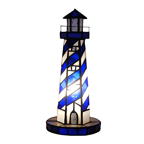 World Art TW60525 Lampes Style Tiffany, Multicolore, 29x12, 5x12, 5 Cm