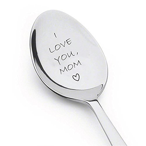 Boston Creative company LLC I Love You Mom Spoon Unique Gifts Stainless Steel Gifts for mom Gifts for Her Mom Gifts Engraved Spoon Spoon Gift
