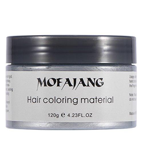 Heren Dames Wegwerp Haarverf Modder Kapperscrème Haarstyling Wax 120ml (Grijs), 120 ml Unisex Wegwerp Haarverf Modder Kapperscrème Haarstyling Wax (grijs)