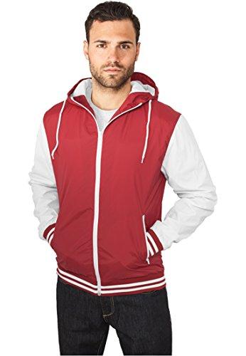 Urban Classics Herren Jacke 2-tone College Sweatjacket mehrfarbig (Blk/Wht) Medium
