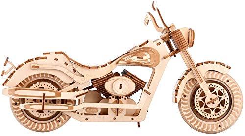 Puzzle 3D De Madera Para Adultos Harley De La Motocicleta Para El...