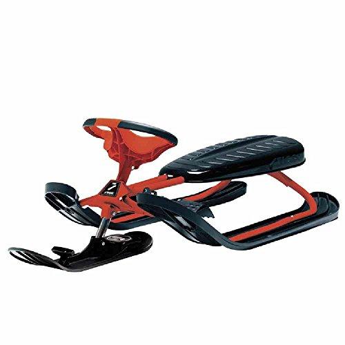 STIGA Schlitten Snowracer Rennrodel Ultimate Pro Lenkschlitten Schwarz/Rot