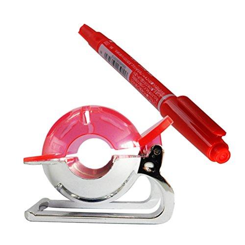 WINOMO - Herramienta de alineación para marcador de pelotas de golf, plantilla de dibujo con rotulador (rojo)