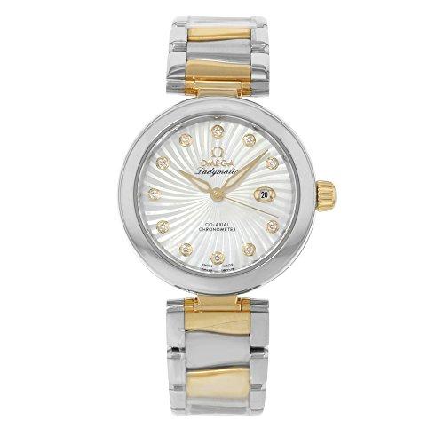 Omega DeVille Ladymatic 42520342055002 - Reloj de pulsera para mujer (acero y oro amarillo de 18 quilates)