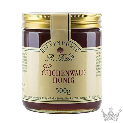Eichenwald Honig, reiner Korkeichenwald schwarz, kalt geschleudert, 500g