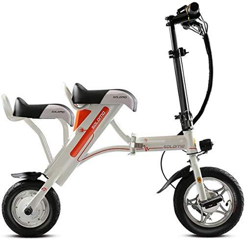 CEXTT Las Bicicletas Eléctricas Plegables Portátiles, Bicicletas Eléctricas, 36V 36V8AH Plazas De 25-30 Km (Color : White)