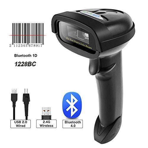Nt-1228bc Bluetooth CCD Barcode Scanner à main levée USB sans fil codes à barres 1d CCD Imager pour Mobile paiement ordinateur écran Scan prise en charge iOS et Android