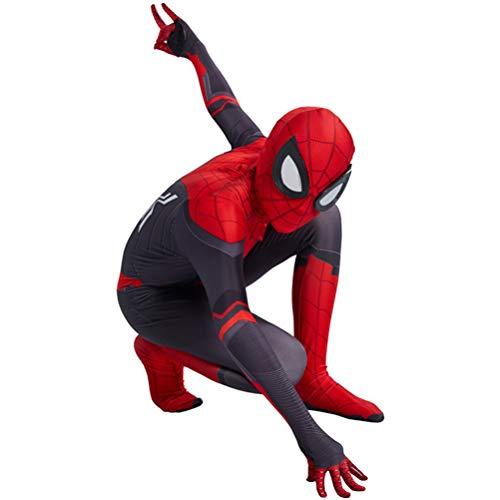 El Niño Vengadores Spiderman 3D Fancy Dress Traje, Carnaval De Halloween Cosplay Body, Unisex Para La Película Del Partido Complementos Disfraz Onesies De Vestuario,Far From Home-Kids/XL(130~140CM)