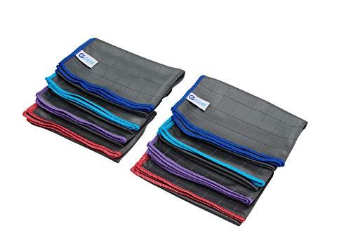 4Clean® Carbon Microfaser Putztücher I Streifenfreie Mikrofasertücher für Auto & Hochglanzmöbel (8er Set - 8 Tücher)