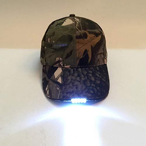 Casquillo de lámpara de escalada 5 LED recargable y ajustable con linterna LED, utilizado para pescar, trotar, gorra de béisbol, unisex