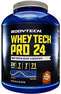 Whey Tech Pro 24 Protein Powder Protein Enzyme Blend with BCAAs to Fuel Muscle Growth Recovery, Ideal for PostWorkout Musc...