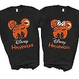 Camisas de Halloween Mickey Minnie For Disney Matching Family Vacation 2021 Hombres Mujeres Niños (Minnie)