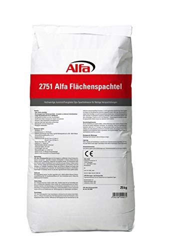Flächenspachtel 25 kg – Spachtel-Masse zum Spachteln und Glätten von Putz, Mauerwerk etc, leicht zu verarbeiten, Wand-, Decken-Spachtelmasse