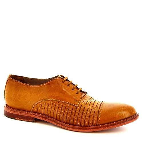 Leonardo Shoes Oxford-Schuhe für Herren, Kalbsleder, perforiert, Modell: 34302/2 Papua Laser Tuff Ocra, Braun - braun - Größe: 39 EU