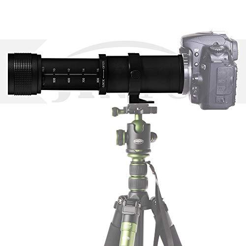 JINTU 420–800mm Super-Telezoom Objektiv Manueller Fokus für Canon EOS DSLR-Kameras 2000D 4000D 5000D 60D 70D 80D 90D 50D 550D 600D 650D 700D 750D 850D 200D 400D 1000D 1100D 1300D