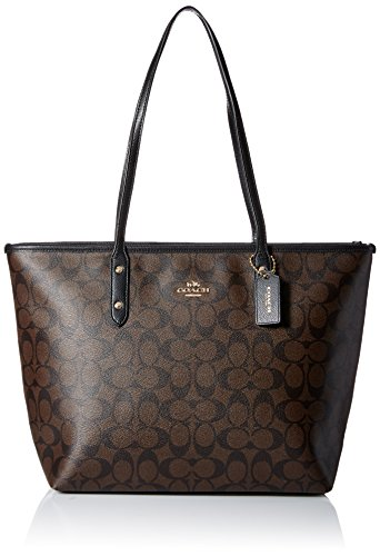 Coach Women's Signature City Zip Tote No Size (Im/Brown/Black)