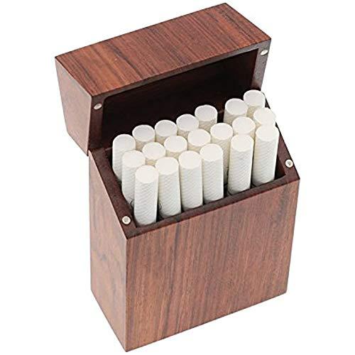 NACHEN Caja De Cigarrillos,Exquisita Madera,Cubierta De Adsorción De Imán Tabaco Cajas,Exquisita Resistente A La Presión Pitilleras 20 Cigarrillos