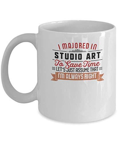Divertente Studio Art Major Student Coffee Mug Graduation Gift College Bianco Tazza da tè in ceramica 11oz