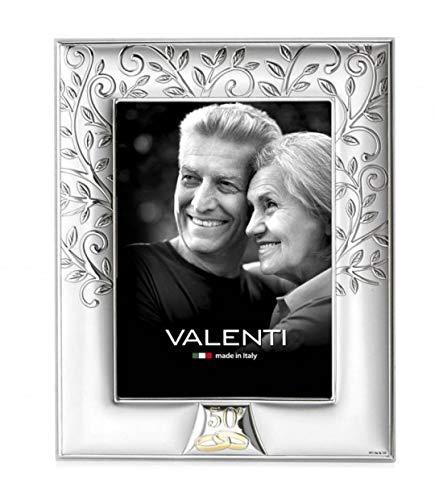 Valenti&Co - Cornice Portafoto Albero della Vita e Loghi 50° Anniversario di Nozze. cm 18x24. Ideale Come Regalo cod: 657 5L