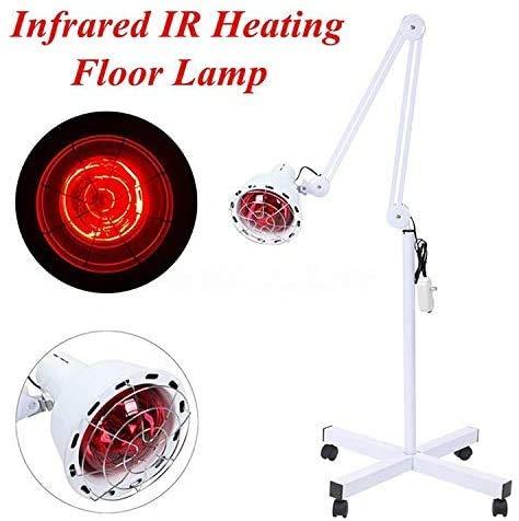 JZLPY Lámpara de Pie de calefacción por infrarrojos de 275 W para terapia de calor, Alivio del Dolor muskulös, tratamiento de belleza, intensidad regulierbar, Con soporte y brazo flexibel