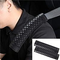 2個車の安全シートベルト快適なコットンショルダーパッドカバークッションハーネス (Size : Black)